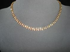 Vintage Attwood and Sawyer Crystal Necklace Gold Necklace Simple, Gold Jewelry Simple, Short Necklace, Crystal Necklace, Ruby Necklace Designs, Jewelry Design Earrings, Gold Jewellery Design, Gold Buttalu, Bhakti Song