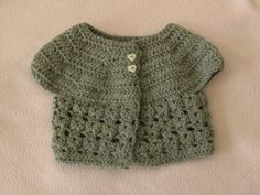 EASY crochet baby cardigan tutorial - how to crochet a baby cadigan / sw...