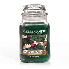 Holiday Garland: Yankee Candle: The season comes to life in this lush holiday aroma of fresh-cut pine boughs and zesty cranberries.