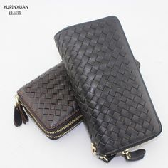 YUPINXUAN New arrivals double zippers plaid wallet brands black wallet designer mens wallets online wallet #Affiliate