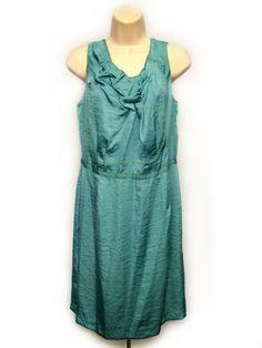 Ann Taylor LOFT Turquoise Blue Shift Dress Sleeveless Sz 8 NEW with Tags #AnnTaylorLoft #Shift #Casual