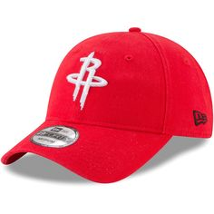 Men s Houston Rockets New Era Red Core Fit 49FORTY Fitted Hat a86441b9ea9