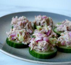 ENKEL TUNFISKSALAT Cucumber, Snacks, Vegetables, Cooking, Food, Blogging, Meal, Koken, Vegetable Recipes