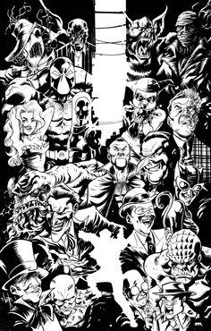 Batman Villains by Nate Stockman, in Travis Ellisor's Miscellaneous Comic Art Gallery Room - 1162506