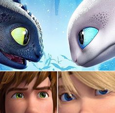 it's like Toothless and the Light Fury represent hiccup and astrid! it's like Toothless and the Light Fury represent hiccup and astrid! Httyd Dragons, Dreamworks Dragons, Disney And Dreamworks, Httyd 3, Hiccup And Toothless, Hiccup And Astrid, Dragon Rider, Dragon 2, How To Train Dragon