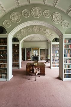 The Book Room at Wimpole Hall.