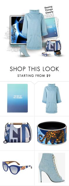 """Clear Vision in Blue"" by michelletheaflack ❤ liked on Polyvore featuring Forever 21, Chloé, Tory Burch, Dolce&Gabbana, Barbara Bui, Denimondenim and polyvorecontests"