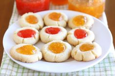jam-thumbprint-cookies ~ I'm just pinning this so that Eva knows we'll be making these together ;)