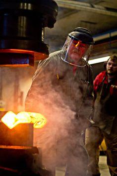 albert+paley | At work in Steneby Power Hammer, Kurti, Sculptures, Artisan, Garage, Tools, Metal, Carport Garage, Instruments