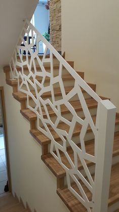 Staircase Railing Design, House Staircase, Home Stairs Design, Home Design Plans, Front Gate Design, Door Design, House Design, Balcony Grill Design, Window Grill Design