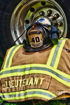 Fireman Turnout Gear Lieutenant by Paul Ward Fire Dept, Fire Department, Firefighter Photography, Firefighter Emt, Fire Helmet, Environmental Portraits, Fire Engine, Fire Trucks, Firefighters