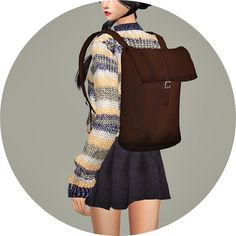 Female Backpack at Marigold via Sims 4 Updates
