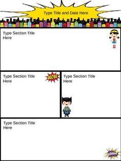 Superhero Theme Newsletter {Editable}