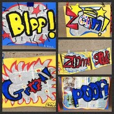 Lichtenstein / Pop Art / onomatopoeia = great for fourth grade!    My Oh My: For Your Viewing Pleasure