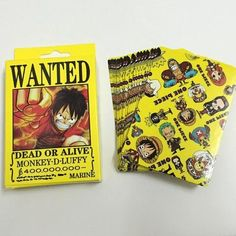 Anime One Piece Playing Cards POP Wanted Dead or Alive 54pcs Deck Poker Style 2