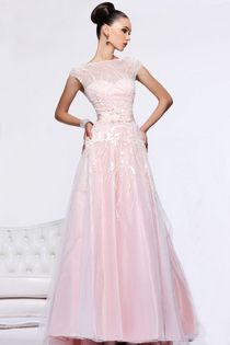 2013 Prom Dresses A Line Scoop Floor Length Organza With Sleeves
