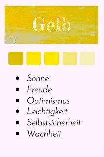 Farbporträt - Farbe Gelb