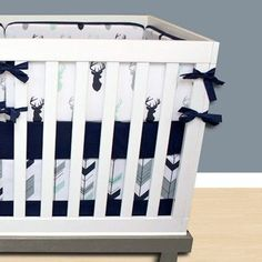 Mod Mint Forest Crib Bedding - Modified Tot