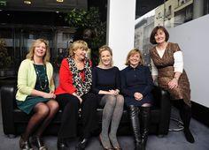 L-R Janice Maskell, UU, Pat Moylan, Arts Council, Orlaith McBride, Arts Council, Una Carmody, Arts Audiences, Una O'Hare, Irish Times Training.  2012