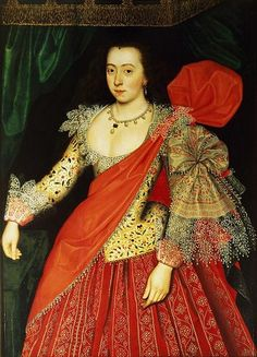 """Lettice Knollys, Daughter of Henry Knollys"" by Unknown Painter, circa 1620"