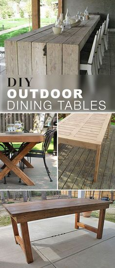 DIY Outdoor Dining Tables! • We found these great DIY outdoor dining table projects for you to pick from.