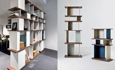 Libreria divisoria bifacciale centro stanza \