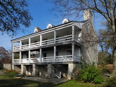 The Historic Daniel Boone Home and Heritage Center in Defiance, Missouri ( back view). Beautiful Places To Visit, Oh The Places You'll Go, Beautiful Homes, Weekend Trips, Day Trips, Road Trip Destinations, Dream Vacations, At Least, Tours