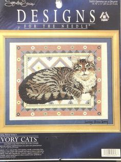 Counted Cross Stitch Kit Ivory Cats Kittens Designs for Needle Signature Series #DesignsfortheNeedle #Sampler