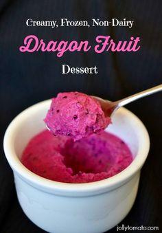 Dragon Fruit Dessert, vegan, dairy-free, gluten-free! from Jeanne at Jolly Tomato