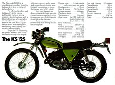 Kawasaki KS 125 Enduro Motorcycle ad.  My first bike...
