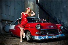 pinup-hotrod:Hotrod Pinup   #curves #tattoos #model #ratrod
