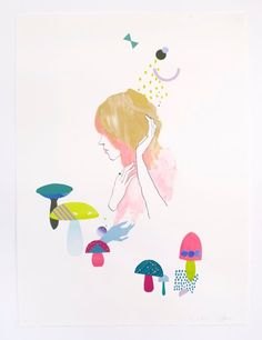 Australian illustrators woeling together for the hidden place galery