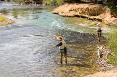 Nothing more peaceful than fly fishing in a slow moving stream.