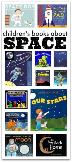 About Space Space books for kids. Blast off into reading with your kids this summer.Space books for kids. Blast off into reading with your kids this summer. Space Preschool, Preschool Books, Toddler Preschool, Book Activities, Preschool Activities, Books For Preschoolers, Nonfiction Activities, Space Activities For Kids, Children Activities