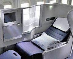 Fly first class on an international flight.