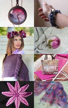 Purple blue dreams by Ivana Kristina on Etsy--Pinned with TreasuryPin.com