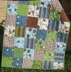 riley blake hooty hoot flannel | Hooty Hoot Baby Owl Quilt by SunnysideDesigns2 on Etsy