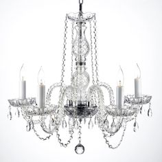 Illuminate your home both literally and figuratively with this elegant five-light chandelier. Featuring 100 percent crystal, this lovely chandelier reflects light brilliantly throughout your entire room and adds polish to your interior decor.
