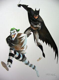 Batman and The Joker by Mark McHaley