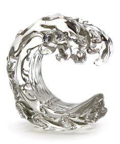 Look at this Clear Glass Wave Décor on #zulily today!