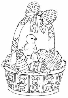 Easter coloring pages Make your world more colorful with free printable coloring pages from italks. Our free coloring pages for adults and kids. Easter Coloring Pictures, Easter Coloring Sheets, Spring Coloring Pages, Easter Colouring, Easter Pictures, Coloring Book Pages, Coloring Pages For Kids, Easter Art, Easter Crafts