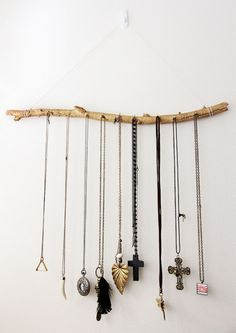 Jewelry organizer | http://www.hercampus.com/life/campus-life/22-diy-projects-only-look-expensive