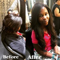 Midori makeover with a beautiful long weave by Ndale and styling by Nicole!