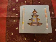 Geld schenken mit Grußkarte zu Weihnachten: Tannenbaum Motiv