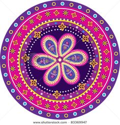Colorful Indian Pattern... Cool combinations!