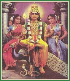 Murugan valli and devayani Om Namah Shivaya, Lord Murugan Wallpapers, World Mythology, Lord Shiva Family, Shiva Statue, Shri Hanuman, Pagan Gods, Shiva Tattoo, Hindu Dharma
