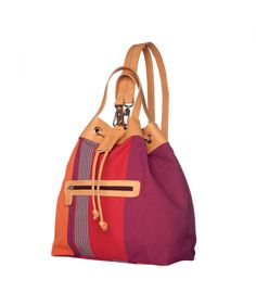 21b7a9ef3c04d7 Capacious and chic: a bag that doubles as a small backpack with two pockets  for small natural cotton fiber bag, handles in natural vegetable-tanned  cowhide.