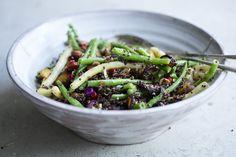 Crunchy Bean, Quinoa & Carrot Salad {omit raisins + honey}