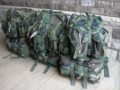 Many years ago I began using Alice rucks purchased through surplus stores. My first experience with the ruck was during my service in the T. Camping Packing, Camping Survival, Survival Prepping, Survival Gear, Survival Skills, Survival Stuff, Camping Gear, Bushcraft Backpack, Bushcraft Gear