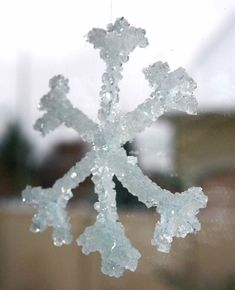 DIY Crystal Snowflakes : : I always had fun creating these with my students.